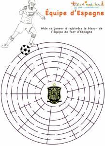 Labyrinthe de l'équipe de foot d'Espagne