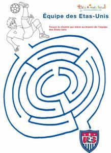 Labyrinthe, un jeu sur l'équipe de foot des Etats-Unis