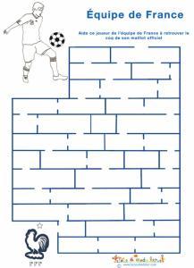 Labyrinthe de foot avec l'équipe de France, les bleus
