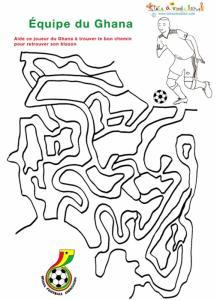 Labyrinthe du joueur du Ghana