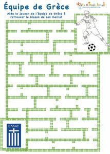 Labyrinthe de foot sur la Grèce