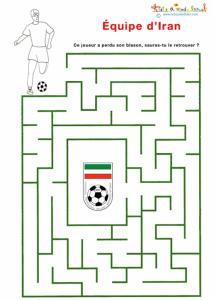 Labyrinthe de foot de l'éuipe d'Iran