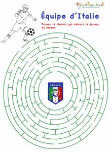 Labyrinthe de foot : Italie