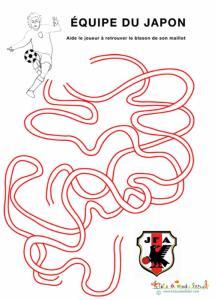 Labyrinthe de  foot de l'équipe du Japon
