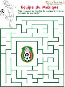 Un labyrinthe sur l'équipe du Mexique