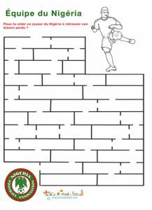 Labyrinthe de l'équipe de foot du Nigéria
