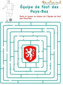 Labyrinthe avec l'équipe de foot des Pays-Bas