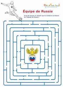 Labyrinthe foot de l' équipe de Russie