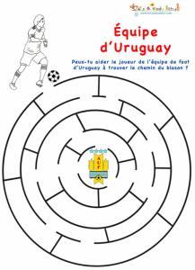 Uruguay, labyrinthe équipe de foot d'Uruguay