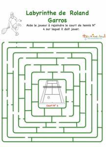 Labyrinthe joueur Roland Garros