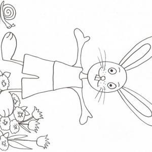 Coloriage d'un petit lapin !