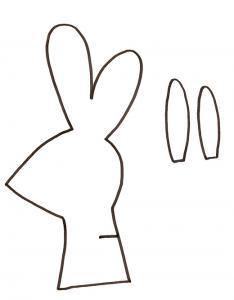 Imprimer le modèle de lapin dans l'herbe