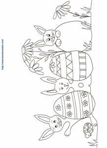 Coloriage des oeufs de Pâques