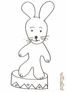 Coloriage d'un lapin de cirque