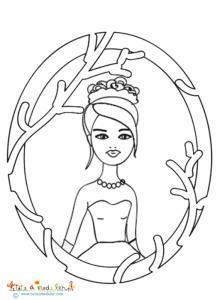 Portrait princesse au petit pois
