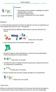 Lettres magazine version à imprimer