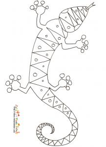 Coloriage lezard Haiti dessin 3