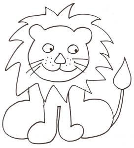 coloriage d'un lion