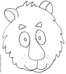 Coloriage d'une grosse tête de lion