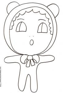 "Coloriage de ""Little Baby"" le bébé au bonnet"