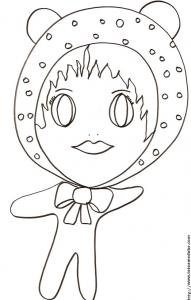 "Coloriage de ""Little Baby"" et le bonnet à pois"