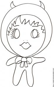 "Coloriage de ""Little Baby"" petit diable"
