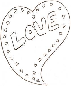 Coloriage gros coeur love