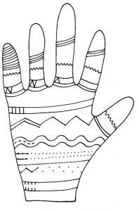 Imprimer graphisme autour de la main 1