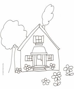 Coloriage d'une petite maison N°7