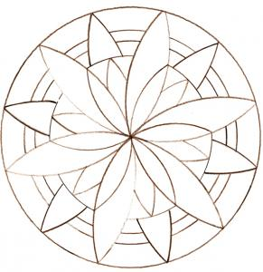 Coloriage Mandala Facile A Imprimer.Mandalas Simples
