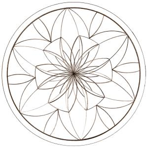 coloriage d'un mandala à la rosace fleur