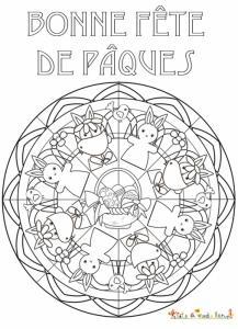 Mandala de Pâques complexe