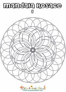 Mandala rosace relief