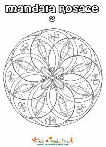 Mandala rosace façon vitrail