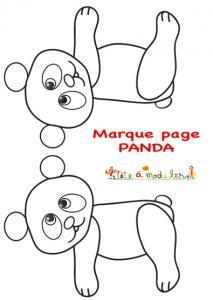 Modèle du panda marque-page