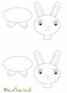 Modèle marque place lapin