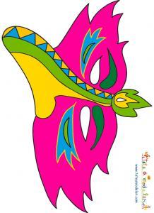 Masque Bec d'oiseau rose