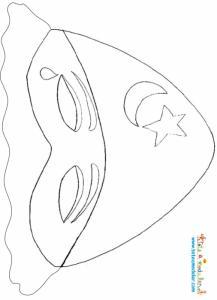 Masque de colombine à imprimer