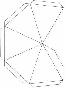 Modèle de menu pyramide vierge