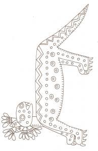 Motif mexicain antique