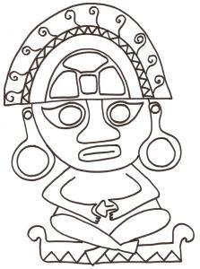 Statuette d'Amérique centrale