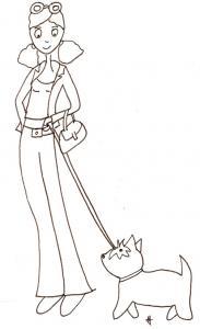 Coloriage Mila et son chien