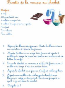 Recette mousse au chocolat - junior