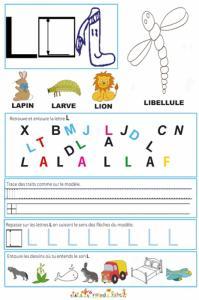 """Page de lecture - écriture : du """" L """""""