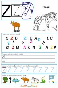 Page de lecture - écriture : le Z