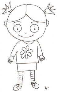 Coloriage de Nana souriante