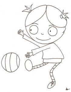Nana joue au ballon