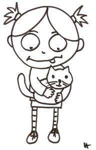 Nana et son chat