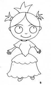 coloriage de fille : Nana en princesse 2