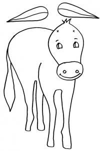 Imprimer le modèle de l' âne de saint Nicolas